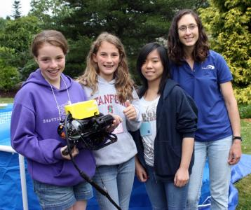 FabFem with girls using rovs