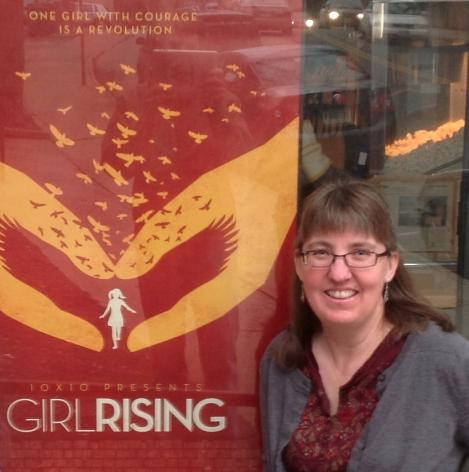 Kim Wilkens at Girl Rising premiere in Charlottesville, hosted by Tech-Girls.